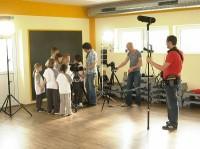 Wissensbegierige Kinder hatten die Gelegenheit Erfahrungen vor und hinter der Kamera zu erhalten!
