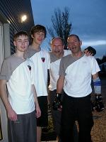 Axel F., Bernd W., Nils W. und Henrik W. erreichten nach anstrengender Prüfung den 12. Schülergrad. Ihr hattet Euch perfekt vorbereitet!