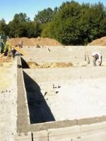 03.09.2010: Das Fundament ist fertig